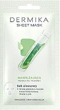 Düfte, Parfümerie und Kosmetik Feuchtigkeitsspendende Tuchmaske mit Aloe Vera - Dermika Sheet Mask