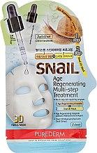 Düfte, Parfümerie und Kosmetik Regenerierende Gesichtsmaske - Purederm Snail Age Regenerating Multi Steps Treatment