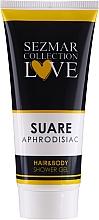 Düfte, Parfümerie und Kosmetik 2in1 Duschgel und Shampoo - Sezmar Collection Aphrodisiac Suare Hair&Body Shower Gel