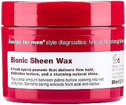 Düfte, Parfümerie und Kosmetik Haarwachs mit starkem Halt für natürlichen Glanz - Recipe for Men Bionic Sheen Wax