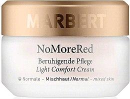 Düfte, Parfümerie und Kosmetik Beruhigende und feuchtigkeitsspendende Gesichtscreme gegen Rötungen für normale und Mischhaut - Marbert Anti-Redness Care NoMoreRed Light Comfort Cream