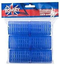 Düfte, Parfümerie und Kosmetik Klettwickler 40/63 mm blau 6 St. - Ronney Professional Velcro Roller