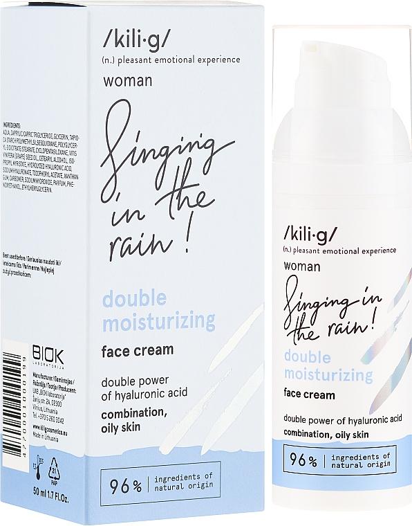 Feuchtigkeitsspendende Gesichtscreme für fettige Mischhaut mit Hyaluronsäure - Kili·g Woman Double Moisturizing Cream