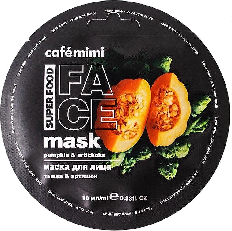 Gesichtsmaske mit Kürbis und Artischocke - Cafe Mimi Face Mask