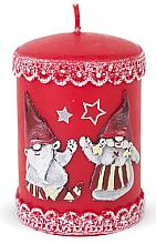 Düfte, Parfümerie und Kosmetik Dekorative Kerze rot 7x10 cm - Artman Dwarves