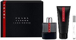 Düfte, Parfümerie und Kosmetik Prada Luna Rossa Carbon - Duftset (Eau de Toilette 100ml + Duschgel 100ml + Eau de Toilette 10ml)