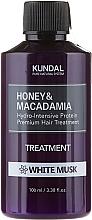Düfte, Parfümerie und Kosmetik Feuchtigkeitsspendende Haarspülung mit weißem Moschus - Kundal Honey & Macadamia Treatment White Musk