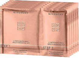 Düfte, Parfümerie und Kosmetik Multi-Masken-Set - Givenchy L'Intemporel Multi-Masking Kit (Step 1 Tuchmaske und Step 2 Aufhellende Crememaske)