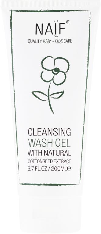 Reinigungsgel für delikate und empfindliche Babyhaut mit Baumwollsamenextrakt - Naif Cleansing Wash Gel