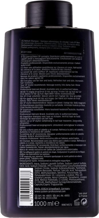 Erfrischendes Männershampoo - Wella Wella SP Men Refresh Shampoo — Bild N3