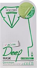 Düfte, Parfümerie und Kosmetik Reinigende Tuchmaske mit Pfefferminze und Papainenzym - Dewytree AC Control Deep Mask