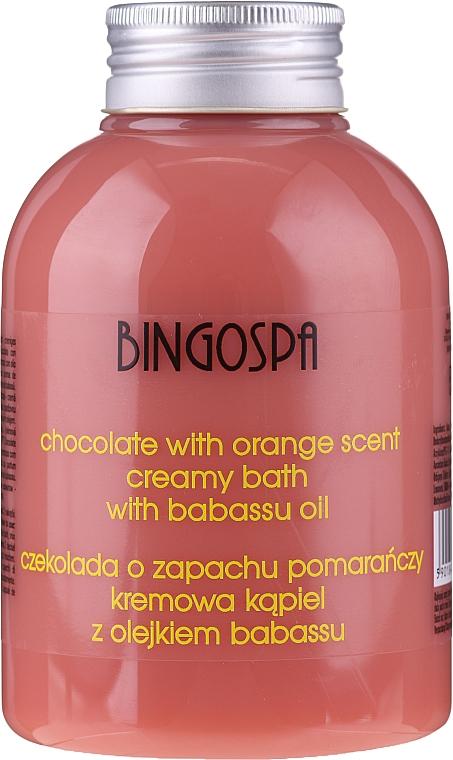 Duschcreme mit Schokolade, Orange und Babassu-Öl - BingoSpa Creamy Chocolate Bath With Orange Oil