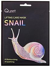 Düfte, Parfümerie und Kosmetik Feuchtigkeitsspendende und beruhigende Lifting-Gesichtsmaske mit Schneckenextrakt - Quret Lifting Care Mask Snail