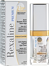 Düfte, Parfümerie und Kosmetik Feuchtigkeitsspendende Anti-Aging Creme für die Augenpartie gegen Schwellungen und dunkle Augenringe - Rexaline Line Killer X-Treme Corrector Cream
