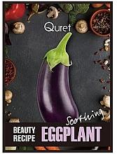 Düfte, Parfümerie und Kosmetik Beruhigende Gesichtsmaske mit Aubergine-Extrakt - Quret Beauty Recipe Mask Eggplant Soothing
