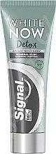 Düfte, Parfümerie und Kosmetik Aufhellende Zahnpasta mit Aktivkohle - Signal White Now Detox Toothpaste