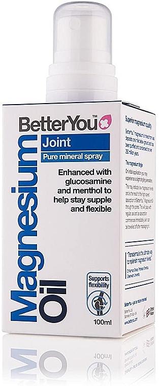 Beruhigndes und kühlendes Körperspray für die Gelenke mit Magnesium, Menthol und Glucosamin - BetterYou Magnesium Oil Joint Pure Mineral Spray