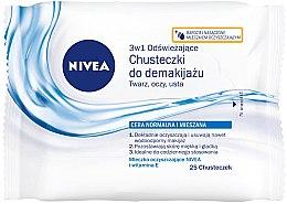Düfte, Parfümerie und Kosmetik Erfrischende Make-up Reinigungstücher für Gesicht, Augen und Lippen mit Vitamin E - Nivea Aqua Effect