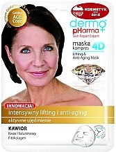Düfte, Parfümerie und Kosmetik Anti-Aging Tuchmaske mit Kaviarextrakt, Granatapfel und grünem Tee - Dermo Pharma Skin Repair Expert Lifting Anti Aging Mask 4D