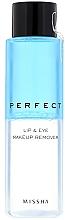 Düfte, Parfümerie und Kosmetik Augen- und Lippen-Make-up Entferner - Missha Perfect Lip & Eye Make-Up Remover