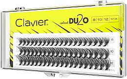 Düfte, Parfümerie und Kosmetik Künstliche Wimpernbüschel für doppeltes Volumen 8 mm, 10 mm, 12 mm - Clavier DU2O Double Volume MIX