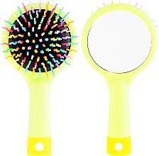 Düfte, Parfümerie und Kosmetik Haarbürste mit Spiegel grün - Twish Handy Hair Brush with Mirror Spring Bud