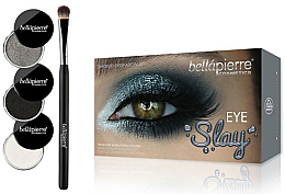Düfte, Parfümerie und Kosmetik Augen Make-up Set (3x Lidschatten + Lidschattenpinsel) - Bellapierre Eye Slay Kit Smoked
