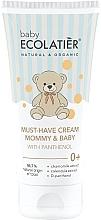 Düfte, Parfümerie und Kosmetik Universelle Creme für Mütter und Babys mit D-Panthenol - Ecolatier Baby