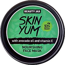 Düfte, Parfümerie und Kosmetik Nährende Gesichtsmaske mit Avokadoöl und Vitamin E - Beauty Jar Skin Yum Nourishing Face Mask