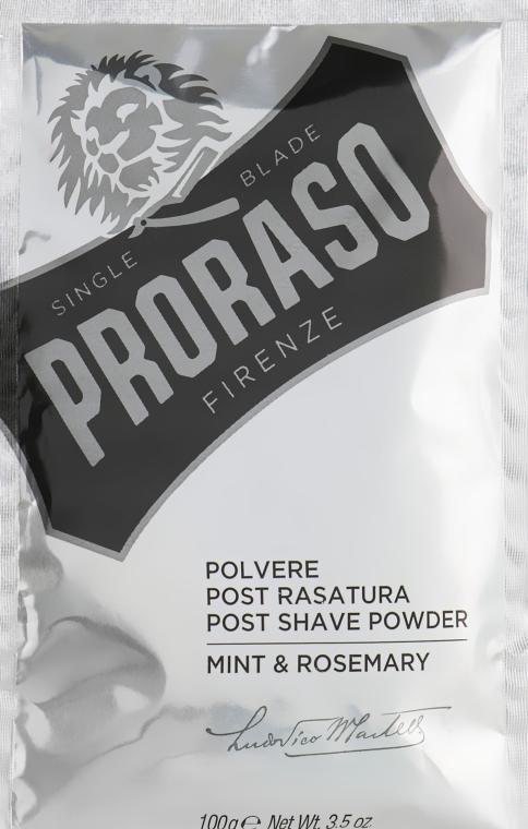After Shave Puder Minze und Rosmarin - Post Shave Powder Mint & Rosemary