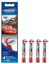Düfte, Parfümerie und Kosmetik Austauschbare Zahnbürstenköpfe für Kinderzahnbürste extra weich EB10-4 Maitre und Lightning McQueen 4 St. - Oral-B Stages Power Disney