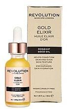 Düfte, Parfümerie und Kosmetik Pflegendes Gesichtselixier mit Hagebuttenkernöl - Makeup Revolution Rosehip Seed Oil Gold Elixir