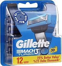 Düfte, Parfümerie und Kosmetik Ersatzklingen 12 St. - Gillette Mach3 Turbo