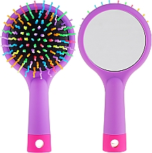 Düfte, Parfümerie und Kosmetik Haarbürste mit Speigel lila - Twish Handy Hair Brush with Mirror Lavender Floral
