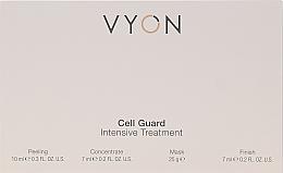 Düfte, Parfümerie und Kosmetik Gesichtspflegeset - Vyon Gell Guard Intensive Treatment (Gesichtspeeling 10ml + Gesichtskonzentrat 7ml + Gesichtsmaske 25g + Creme-Finish 7ml)