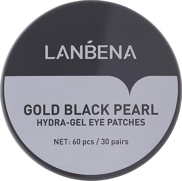 Hydrogel-Augenpatches mit goldenen und schwarzen Perlen - Lanbena Gold Black Pearl Hydra-Gel Eye Patch