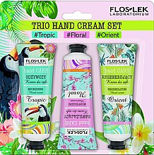 Düfte, Parfümerie und Kosmetik Handpflegeset - Floslek Trio Hand Cream Set (Handcreme 50ml 3 St.)