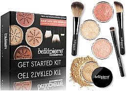 Düfte, Parfümerie und Kosmetik Make-up Set - Bellapierre Get Started Kit Medium (2x Puder-Foundation 2x4g + Mineralpuder 4g + Gesichtsbronzer 4g + Puderpinsel + Rougepinsel + Concealer Pinsel)