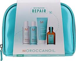 Düfte, Parfümerie und Kosmetik Haarpflegeset - MoroccanOil Repair Kit (Shampoo 70ml + Conditioner 70ml + Haarcreme 75ml + Haaröl 25ml + Kosmetiktasche)