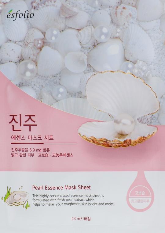 Feuchtigkeitsspendende und aufhellende Tuchmaske mit Perlenextrakt - Esfolio Pearl Essence Mask Sheet
