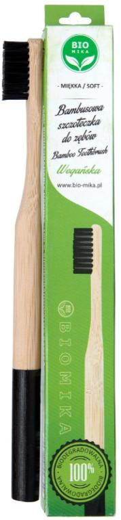 Bambuszahnbürste weich schwarz - Biomika Natural Bamboo Toothbrush