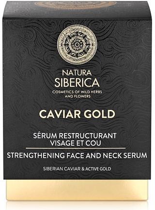 Stärkendes Anti-Aging Hals- und Gesichtsserum mit schwarzem Kaviar und sibirischem Gold - Natura Siberica Caviar Gold — Bild N2