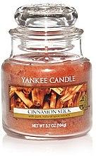 """Düfte, Parfümerie und Kosmetik Yankee Candle Cinnamon Stick - Duftkerze im Glas mit natürlichen Extrakten """"Cinnamon Stick"""""""