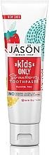 Düfte, Parfümerie und Kosmetik Natürliche Kinderzahnpasta mit Erdbeergeschmack - Jason Natural Cosmetics Kids Only Toothpaste Strawberry