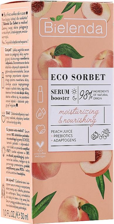 Feuchtigkeitsspendender und pflegender Serum-Booster mit Pfirsichsaft - Bielenda Eco Sorbet Moisturizing & Nourishing Serum Booster