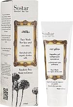 Düfte, Parfümerie und Kosmetik Gesichtsreinigungsschaum mit Bio Eselsmilch - Sostar Face Wash with Donkey Milk