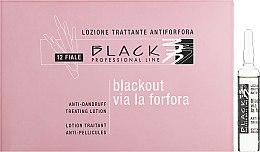 Düfte, Parfümerie und Kosmetik Anti-Schuppen Haarlotion in Ampullen - Black Professional Line Anti-Dandruff Hair Lotion
