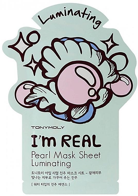 Aufhellende Tuchmaske für das Gesicht mit Perlenextrakt - Tony Moly I Am Pearl Sheet Mask
