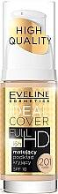 Düfte, Parfümerie und Kosmetik Langanhaltende mattierende Foundation LSF 10 - Eveline Cosmetics Ideal Cover Full HD SPF10