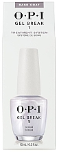 Düfte, Parfümerie und Kosmetik 2in1 Gel Nagelunterlack und Serum - O.P.I Gel Break Serum Base Coat